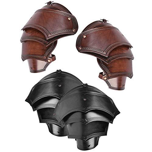 Medieval AntoniusLeather Spaulders