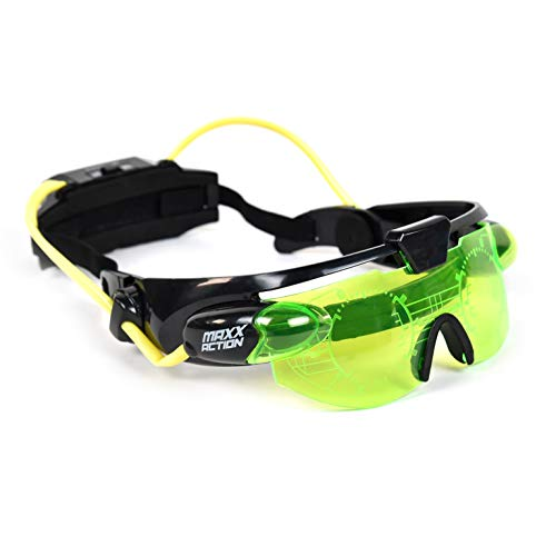 Sunny Days Entertainment Night Vision Glasses – Kids Spy Toy   Adjustable Green LED Eye Goggles – Maxx Action