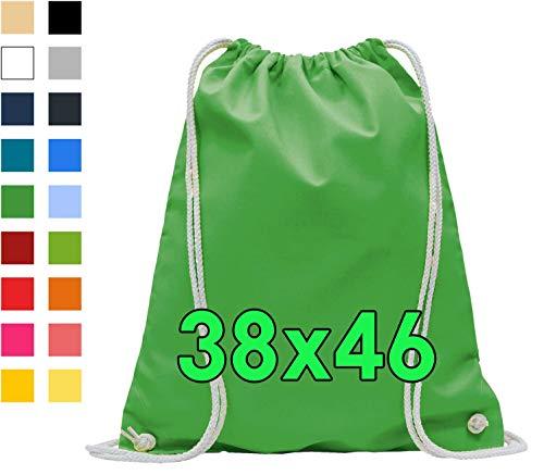 Katoenen tassen 1 stuks 38x42 cm sporttas - rugzak stoffen tas gymtas bag, buidel, katoenen tas, jutezak Oeko-Tex® gecertificeerd stoffen zak boodschappentas gymzak zak om te