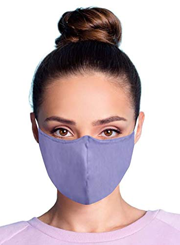 Cloth Face Mask | Made with Polypropylene Non-Woven Filter | Reusable 2 Pack | Taiwan Made | Lavender | Washable | Three-Ply | Comfortable Ear Loops