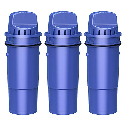 Overbest OB7010 CRF-950Z Pitcher Water Filter, Replacement for Pur Pitchers and Dispensers PPT700W, CR-1100C, DS-1800Z and PPF951K, PPF900Z Water Filter (3 Pack)