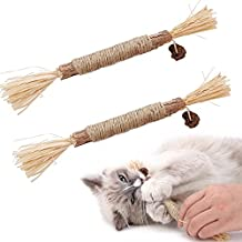 Zagrine Catnip Toys, Cat Toys for Indoor Cats, Kitten Teething Chew Toy for Aggressive chewers, Silvervine Cat nip Chew Sticks Calm Cat Anxiety and Stress, Suitable for All Ages, Breeds, 2 Packs