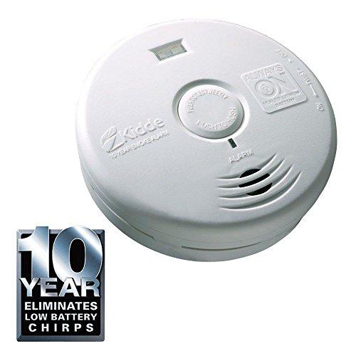 Kidde P3010H Worry Free 10-Year Hallway Sealed Lithium Battery Operated Smoke Alarm with LED Escape Light