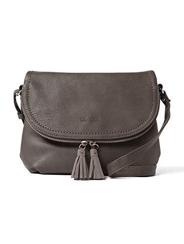 TOM TAILOR Damen Taschen & Geldbörsen Umhängetasche mit Quasten-Detail grey,OneSize