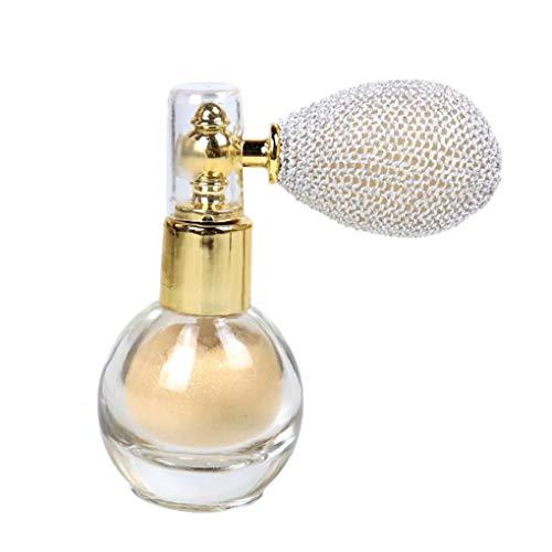 Proyección de polvo de maquillaje del brillo del reflejo aclaran Aroma de resaltado pigmento en polvo para la cara del cuerpo del pelo -Marfil Blanca