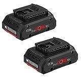 2 baterías Bosch GBA Procore de 18 V y 4 Ah en caja de cartón.