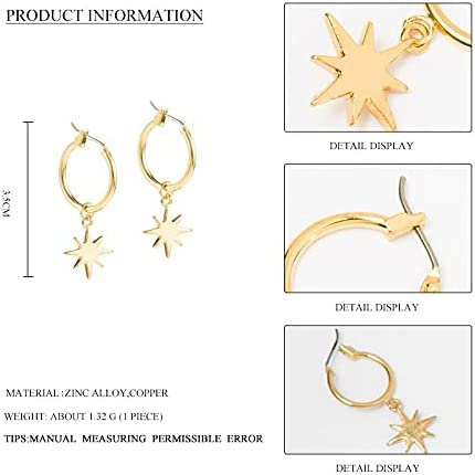 Vintage Enamel Round Hoop Earrings For Women Girls Small Hoops Star Cross Charm Earrings Piercing Jewelry Oorbellen