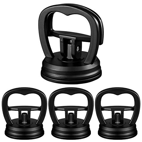 4 Pieces Car Dent Repair Tool Suction Cup Dent Puller Remover Car Body Handle Lifters Dent Pullers Removers for Car Dent Repair, Glass, Tiles, Mirror, Granite Lifting and Objects Moving (Black)