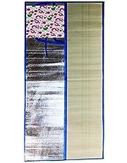 Beautiful Semi-Aluminum Foil Picnic/Beach Straw Mat (170 x 90 Cm) (Pack of 1 Unit)