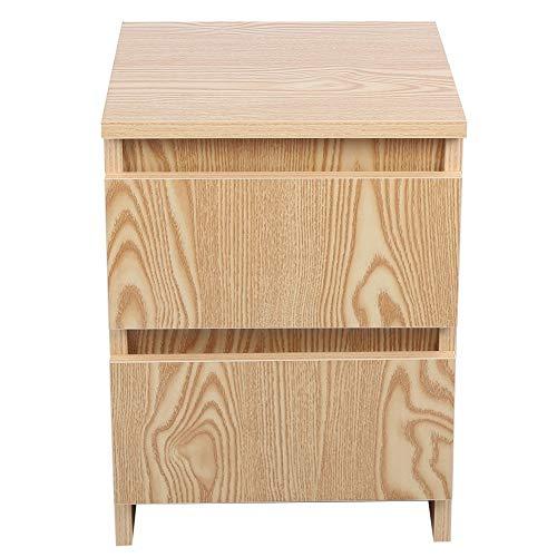 Ejoyous Nachttisch, Nachtkommode, Beistelltisch im Industrie-Design, Eleganter Holz Couchtisch Nachttisch mit 2 Schubladen Moderner Beistelltisch mit Naturholzmaserung 30x40,5cm