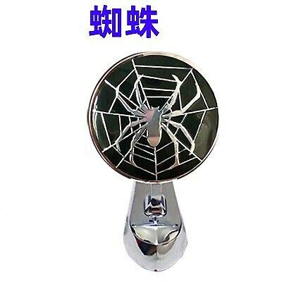 DE.SOUL Car Metal Chrome Hood Ornament Badge Emblem Spider Universal Fit