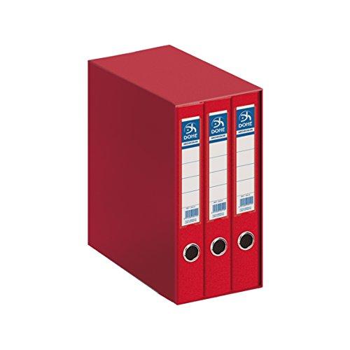 pequeño y compacto Dohe Archicolor – Archivador Módulo 3 A4, Rojo