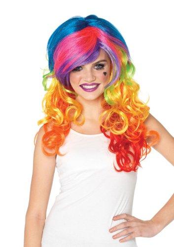 Leg Avenue Perruque Multicolore Synthétique Soyeux Et Brillant