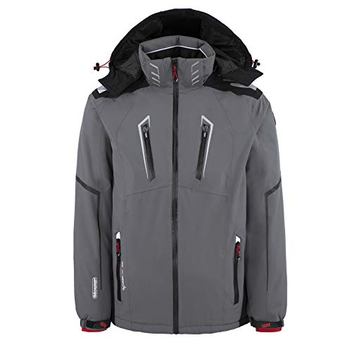 Geographical Norway - Blouson de Ski Homme Warning Gris-Taille - XXXL