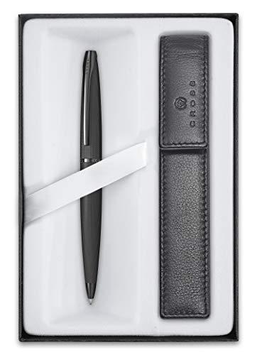 Cross ATX - Set de regalo (bolígrafo y estuche, mecanismo giratorio, tinta negra)