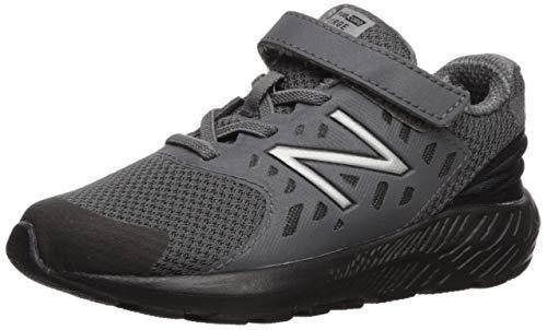 New Balance Boys' Urge V2 FuelCore Running Shoe, Castlerock/Black, 4 XW US Toddler