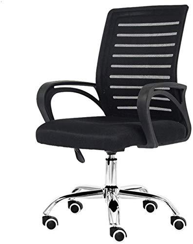 Xiuyun - Silla de oficina moderna, sencillez ascensor, rotación para casa, silla de ordenador, silla de oficina de doble capa, permeable al aire de malla, resistente al cansancio de 150 kg negro