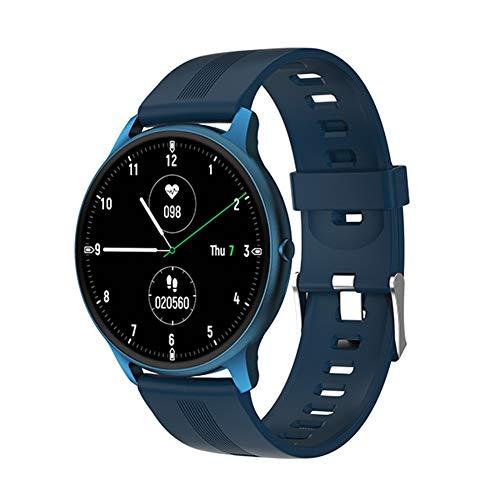 COSCANA Reloj Inteligente Pantalla De 1,28'Monitor De Sueño con Frecuencia Cardíaca IP68 Fondo Impermeable Pulsera Deportiva Rastreador De EjerciciosBlue