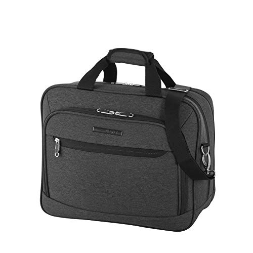 Rada Umhängetasche Dream Light FU/5, Wasserabweisende Laptoptasche für Macbooks und Laptops bis 16 Zoll, Business Umhängetasche für Damen und Herren (Anthra schwarz)