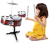 PRIMIL Small Plastic Drum Set Toy for Kids Age 3 - 6 Years Old Toy Musical Instruments Playing Rhythm Beat Toy Great Gift for Boys Girls