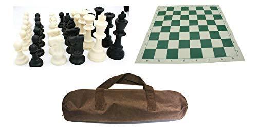 IDOPUZ – Tabla de vinilo de 9,52 cm King 50,8 cm bolsa de viaje – Juego de mesa de ajedrez profesional listo para torneos al por mayor