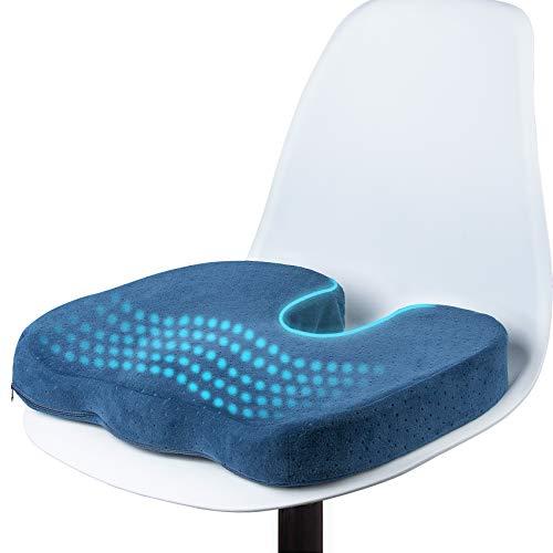 Sitzkissen, Sitzkissen Orthopädisch, Premium Memory Foam Sitzkissen, Müdigkeit lindern, Kann Rücken-, Gesäß- und Steißbeinschmerzen Lindern, Ergonomisch, Druckentlastend, Büro, Auto, Rollstuhl
