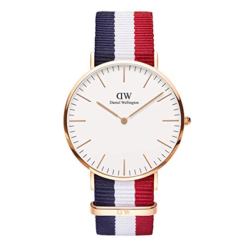 Daniel Wellington Classic Cambridge, Orologio da polso Uomo,  40mm, Eggshell White