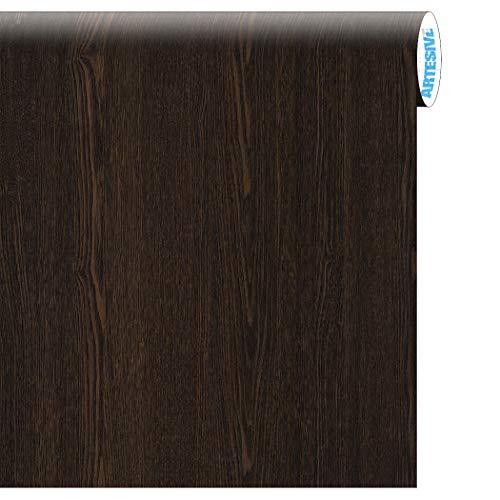 Artesive WD-030 Wengè Scuro larg. 60 cm AL METRO LINEARE - Pellicola Adesiva in vinile effetto legno per interni per rinnovare mobili, porte e oggetti di casa