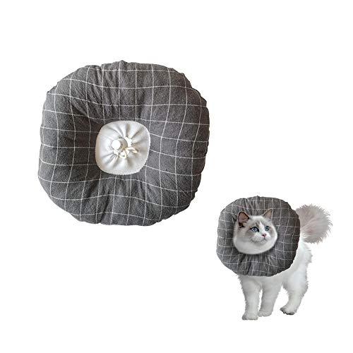 Andiker Collar de cono suave para perros, collar de cirugía cómodo ajustable para la recuperación, anti mordedura lamida collar protector para gato gatito y cachorro (M)