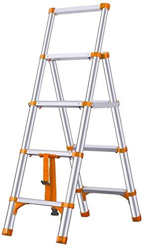 DY Telescópico Escalera de Aluminio Multiusos Telescópica Extensión Escalera de Peldaños Plegable Portátil Ingeniería Escalera con Ruedas MultiPurpose Ladder Plegable Compacto Loft Ladder con Ruo