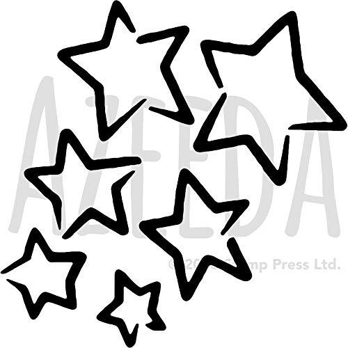 Groß A2 'Sterne' Wandschablone / Vorlage (WS00028173)