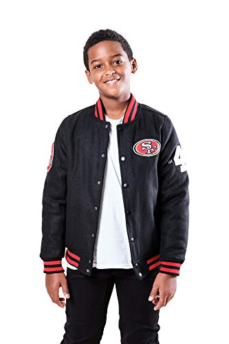 Ultra Game NFL San Francisco 49ers Youth Classic Varsity Coaches Jacket, Team Color, Large