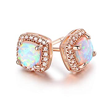 Best rose gold opal earrings Reviews