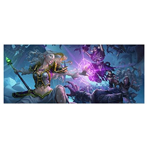 Gaming Alfombrilla de Ratón Grande Juego extendido Alfombrilla de ratón Wow World of Warcraft Juegos Teclado Grande Estera del Mouse de la Alfombrilla para la computadora PC Desk Home Office