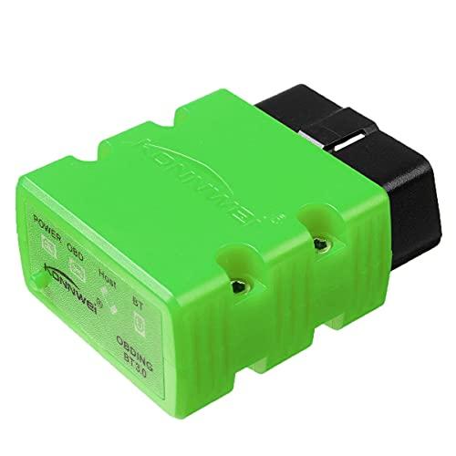 YONGYAO V1.5 Coche OBD2 escáner Bluetooth diagnóstico Herramienta Lector de código OBDII para teléfono Android-Verde
