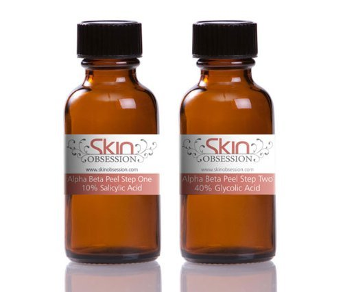 Skin Obsession 40% 2 phase Combination Chemical Glycolic/Salicylic/lactic Peel for Acne, Fine Lines