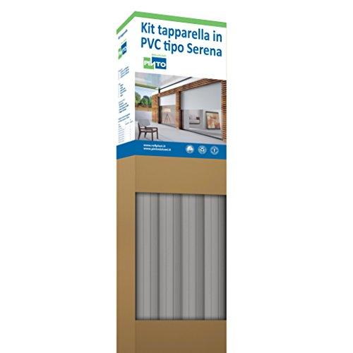 Rollplast PVCKTSEC0300123016001 rolluiken van PVC Serena, gewicht ca. 4,50 kg/m². Eenvoudig te monteren, zuinig en duurzaam. Kleur: grijs.