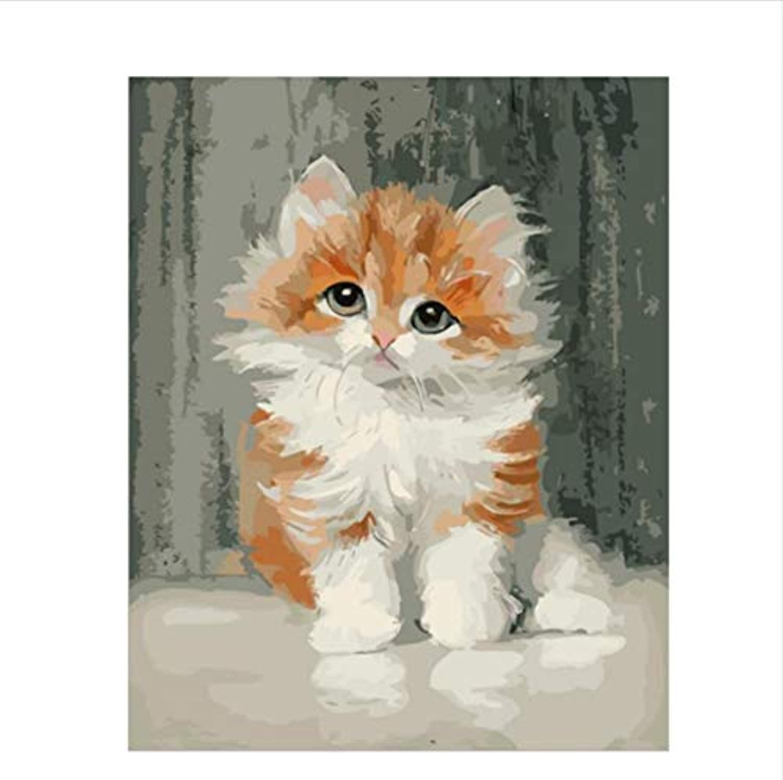CZYYOU DIY Digitale Malerei by Zahlen Die Gelbe Katze Ölgemälde Wandbild Kits Färbung Wandkunst Bild Geschenk - Mit Rahmen - 40x50cm B07PNQXXN1   Sale