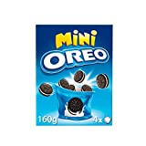 Oreo - Mini Galletas De Chocolate Rellenas De Crema Blanco, 160 g