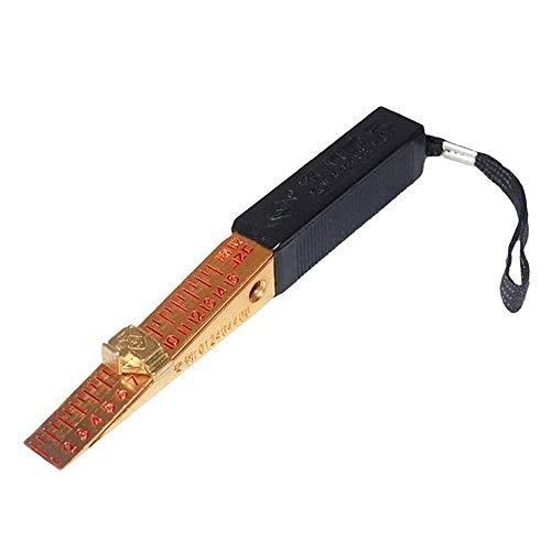 HELEISH JZC Konische Fühlerlehre 0,5 mm / 0,2 mm Präzisions-Keil Feeler 0-15mm Prüfdorns Feeler Gap Gage Lineal Hilfsmittel (Color : Band Size 0.2MM)