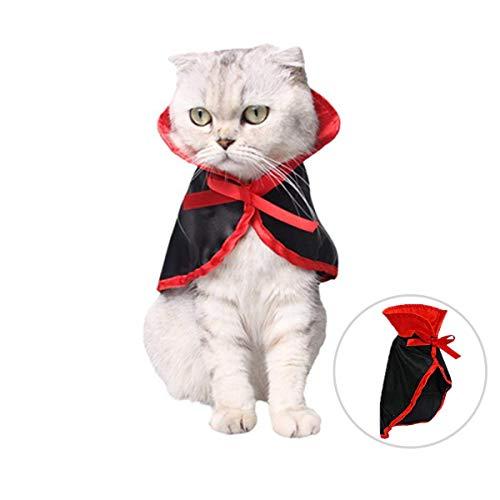 Lawoho Haustier-Kostüm, Halloween, Weihnachten, Urlaub, Cosplay, Party, Vampirumhang, Haustierbekleidung, süßer Welpen und Katzen