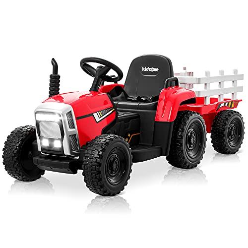 Kidzone 12V 7AH EVA Powered Electric Tractor