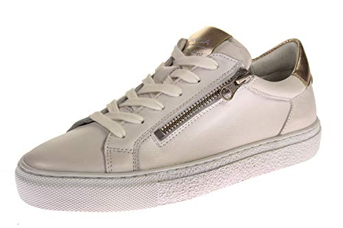 Maca Kitzbühel 2630 - Damen Schuhe Sneaker - White-Silver-Gold, Größe:40 EU