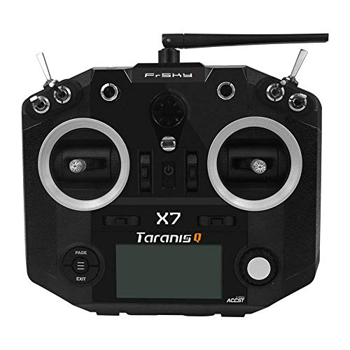 AKDSteel FrSky Taranis Q X7 16CH - Mando a Distancia para transmisor sin Receptor, Negro, Delete