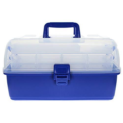 Croch Angelkoffer für Angel Zubehör und Geräte 35 x 18 x 20 cm Blau