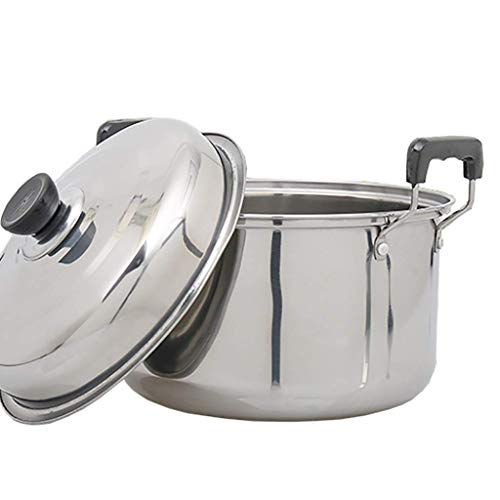 ZLJ Pentola per brodo pentola per zuppa in Ferro per Uso Domestico con Coperchio pentola (20-28 cm) pentola per fornello a Gas fornello a induzione (Dimensioni: 20 cm)