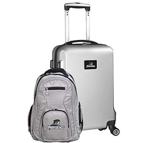 NCAA Providence Friars Deluxe 2-Piece Backpack & Carry-On Set, Silver