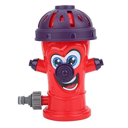 Juguete de Agua en Aerosol para jardín de Fiesta de Verano, rociador de Agua en Aerosol, Juego de Agua en Patio Trasero ABS para niños(Water Jet Hydrant (Red))