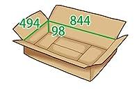 In The Box ダンボール 段ボール「衣類用LD(844×494×高さ98mm) 10枚」茶色