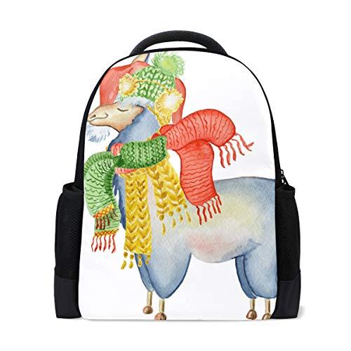 DEZIRO polyester Animal Llama Sjaal Hoed schooltas voor vrouwen